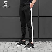 Спортивные штаны beZet Zipp black\white '18, черные