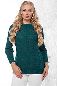 Свитер женский вязаний в универсальном размере 48-54