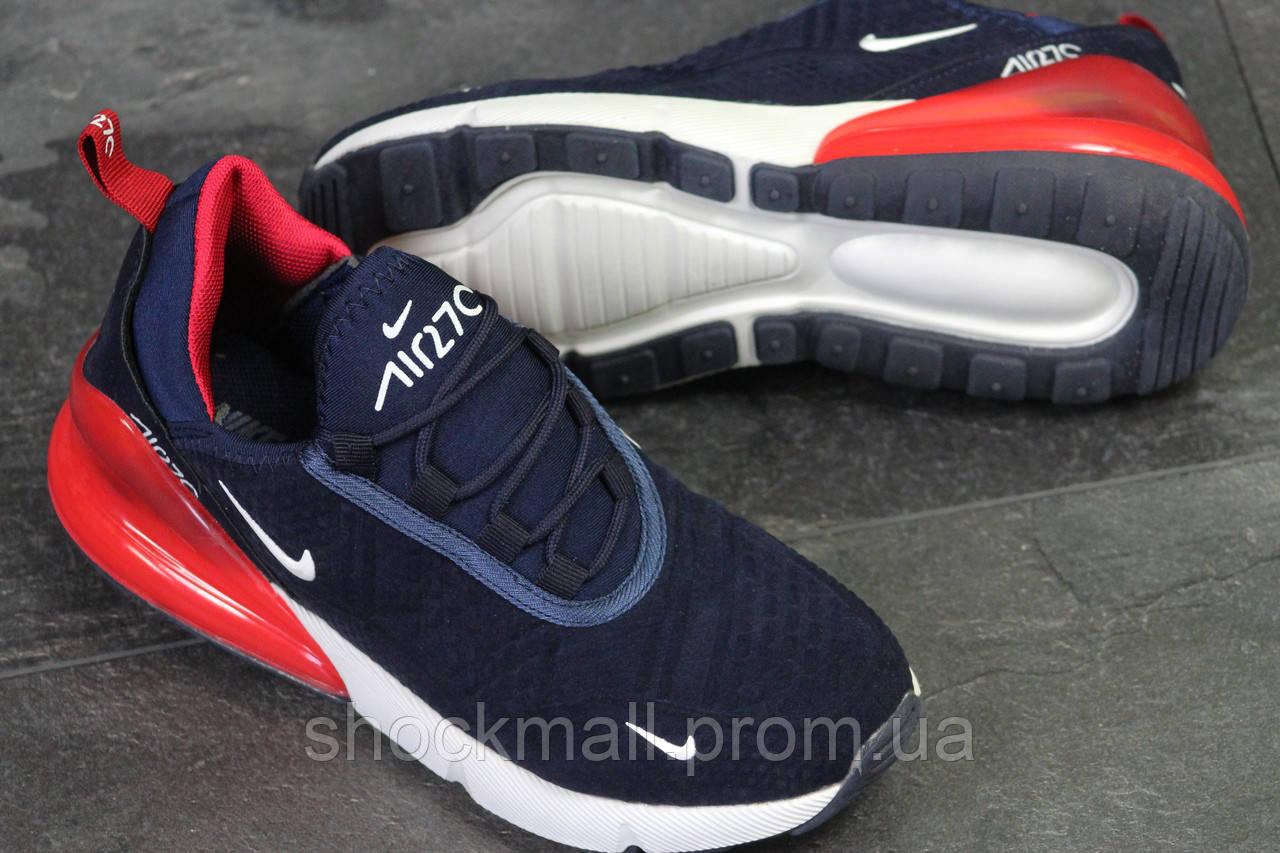 8761172f Nike Air Max 270 кроссовки мужские синие велюр Вьетнам реплика - Интернет  магазин ShockMall в Киеве