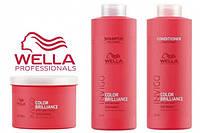 Набор  большой Wella Invigo Color Brilliance  (шампунь 1000 мл, кондиционер 1000 мл,маска 500 мл)
