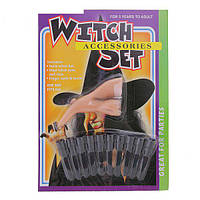 Набор ведьмы (нос, когти) - аксессуар на Хэллоуин