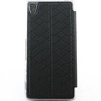 Чехол-книжка для Sony Xperia Z3 D6603, кожаный с поликарбонатом, Baseus, Черный /flip case/флип кейс /сони , фото 1