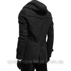 Мужская черная пальто, фото 2