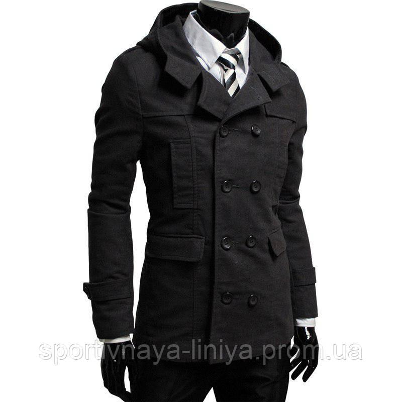 Мужская черная пальто