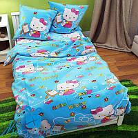 Односпальное детское постельное бельё из бязи HELLO KITTY (150 220) 929591042ef4e