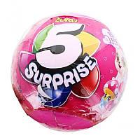 Игровой набор в Шаре - сюрпризе ZURU 5 Surpris для девочек розовый (7702)