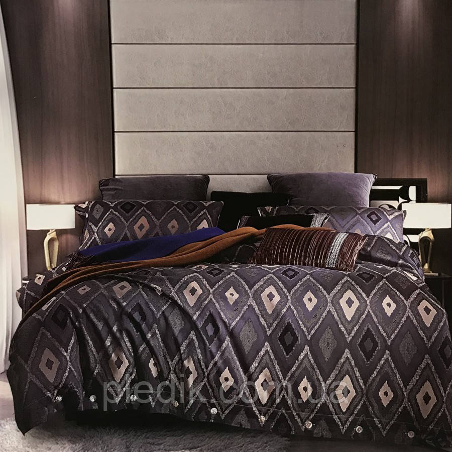 Постельное белье 200х220 Жаккард Premium 11774