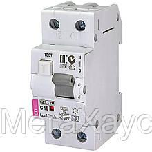 Дифференциальный  автоматический выключатель . ETI KZS-2M C 16/0,01 тип A (10kA)