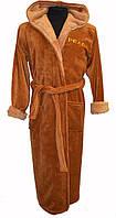 """Подростковые халаты """"SPORT"""" цвет коричневый"""