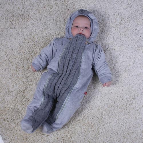 вязаный комбинезон на махре для новорожденных Weave цена 450 грн