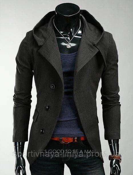 Мужская серое пальто