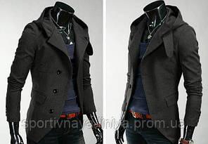 Мужская серое пальто, фото 2