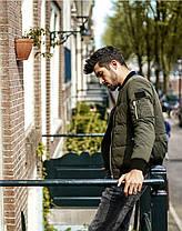 Мужская зеленая демисезонная куртка , фото 3