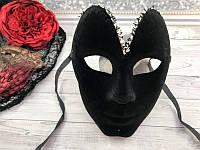 """Маска черная """"Образ""""  20х16 см - маска на вечеринку, карнавал"""