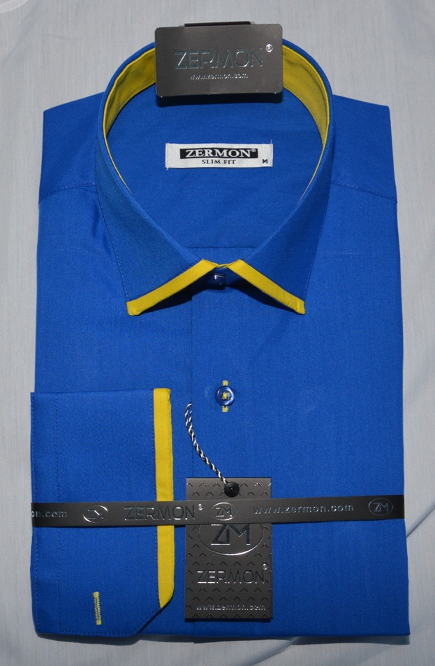 Мужская приталенная рубашка ZERMON (размер XL)