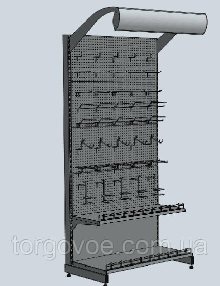 Новые торговые стеллажи WIKO с перфопанелями для магазина. Торговое оборудование в наличии и под заказ, фото 1