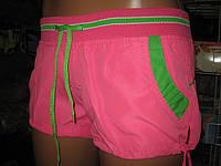 Шорты женские из плащевки норма с цветной вставкой на кармане