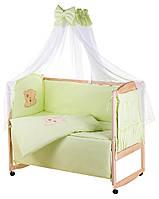 Детская постель Qvatro Gold AG-08 аппликация  салатовый (мишка мордочка штопаная), фото 1