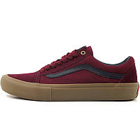 Кеды мужские Vans Old Skool - Port Royale BORDO (бордовые) Top replic
