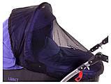Москитная сетка для коляски универсальная  черная, фото 2