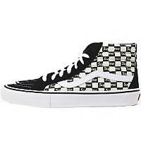Кеды мужские Vans SK8-Hi Supreme высокие (черные-белые)  Top replic
