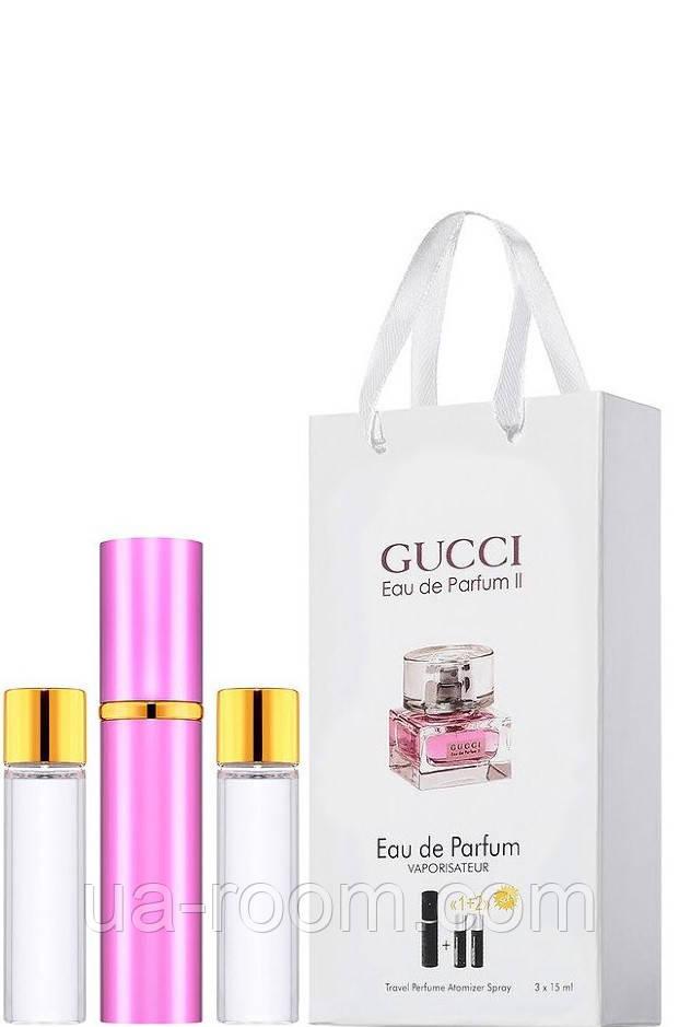 Мини-парфюм женский Gucci Eau de Parfum 2, 3х15 мл