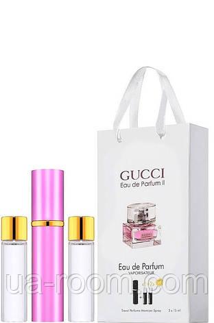 Мини-парфюм женский Gucci Eau de Parfum 2, 3х15 мл, фото 2