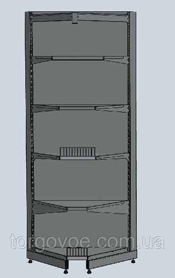Стеллаж новый торговый WIKO угловой для магазина. Торговая мебель для магазина, фото 1