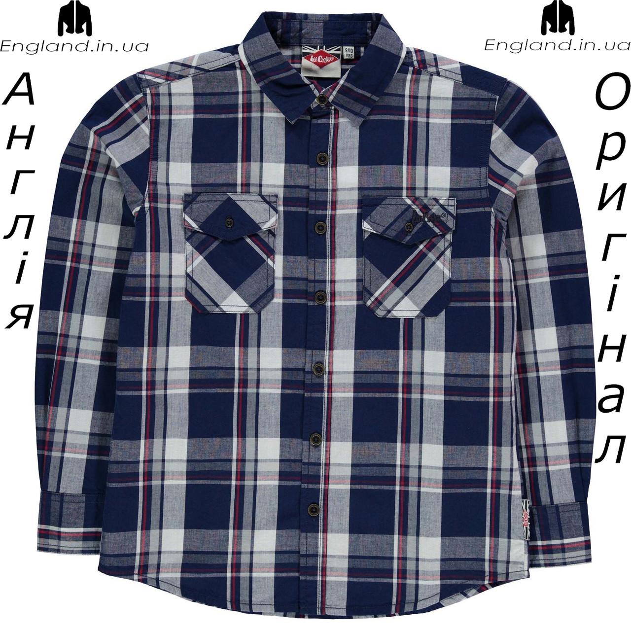 Рубашка Lee Cooper из Англии для мальчиков 2-14 лет - повседневная