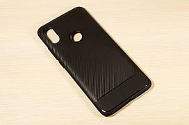 TPU чехол Carbon для Xiaomi Redmi S2 (Черный)