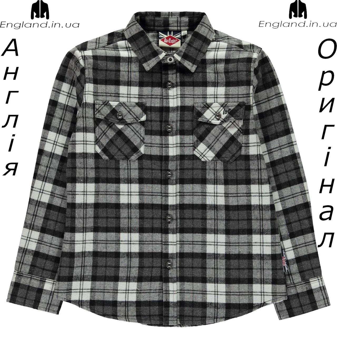 Рубашка Lee Cooper из Англии для мальчиков 2-14 лет - фланелева