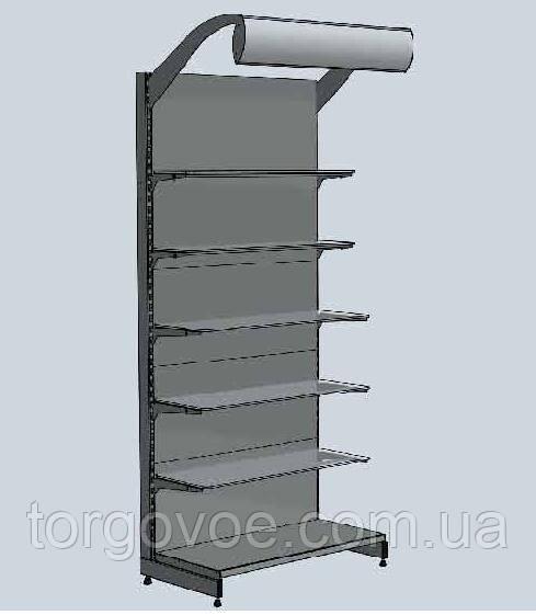 Торговые стеллажи WIKO с балдахинами и металлическими полками в магазин, фото 1