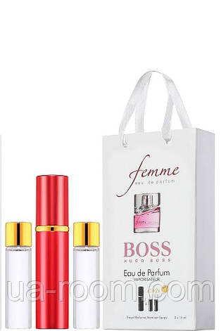 Мини-парфюм женский Hugo Boss Femme, 3х15 мл, фото 2