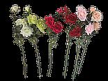 Искусственная роза раскрытая , 3 цветка , фото 3