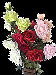 Искусственная роза раскрытая , 3 цветка , фото 6