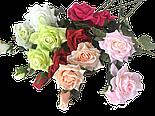 Искусственная роза раскрытая , 3 цветка , фото 5