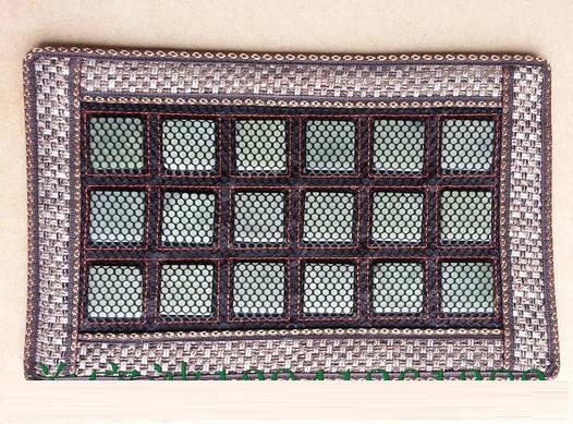 Нефритовый коврик на сиденье массажер 25х42 (квадратные камеш)