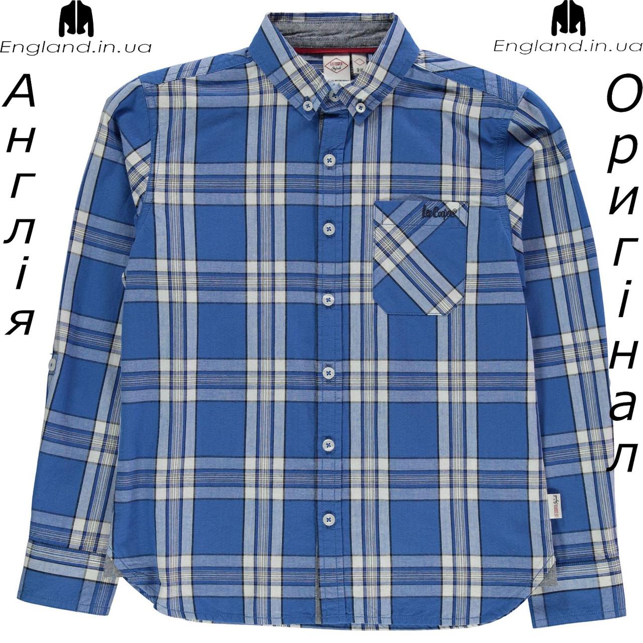 Рубашка Lee Cooper из Англии для мальчиков 2-14 лет - на длинный рукав