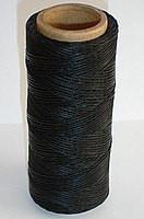 Нить вощёная плоская 1,4 мм чёрная