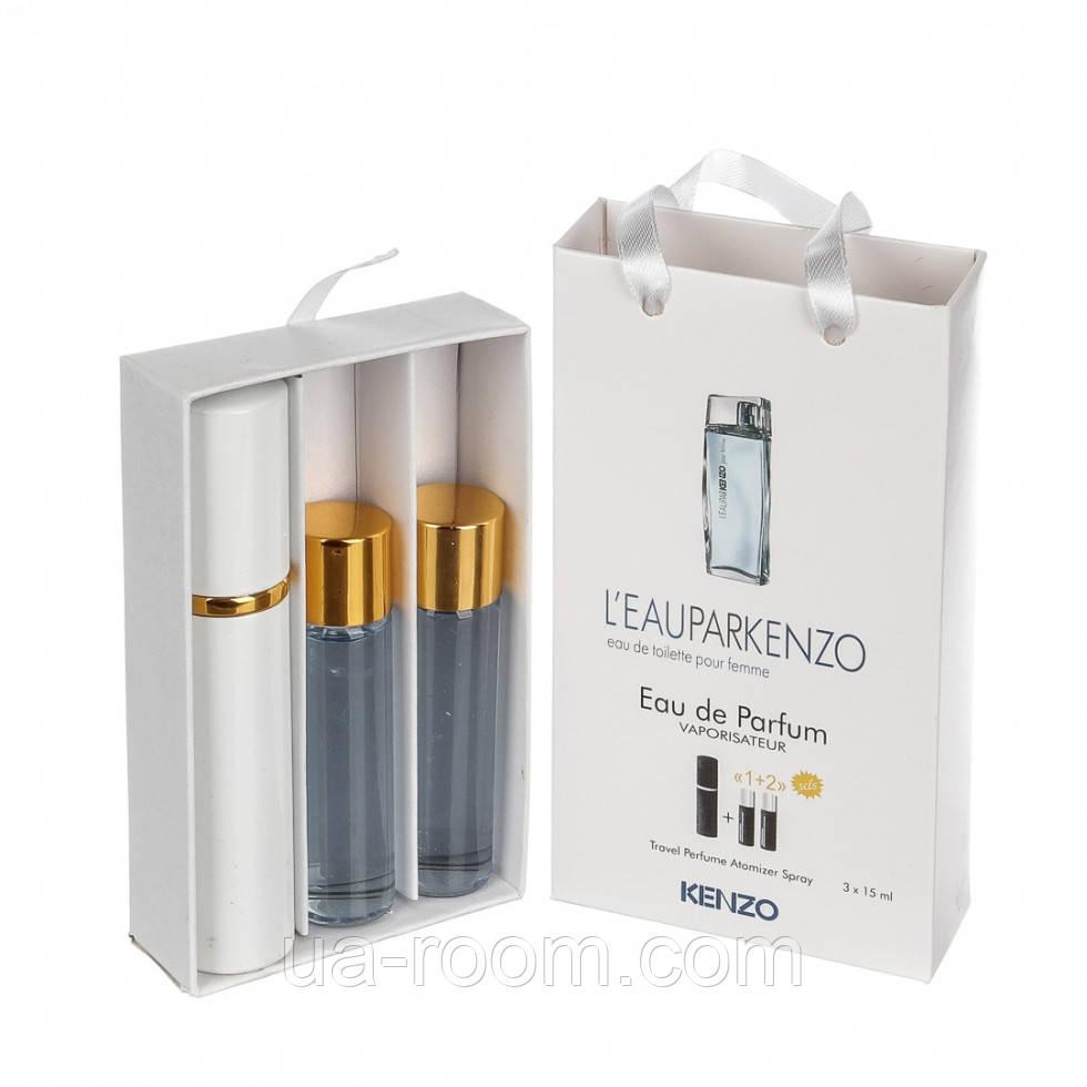 Мини-парфюм женский Kenzo Leau par Kenzo, 3х15 мл