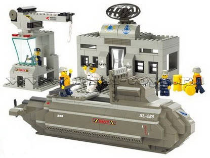 Конструктор SLUBAN М38 В0123 подводная лодка, 381 деталь