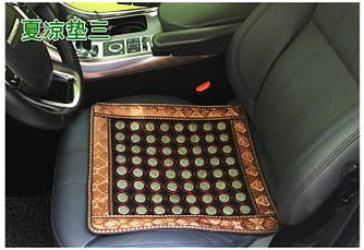 Нефритовый коврик на сиденье массажер 43х43 (мелкие камеш)