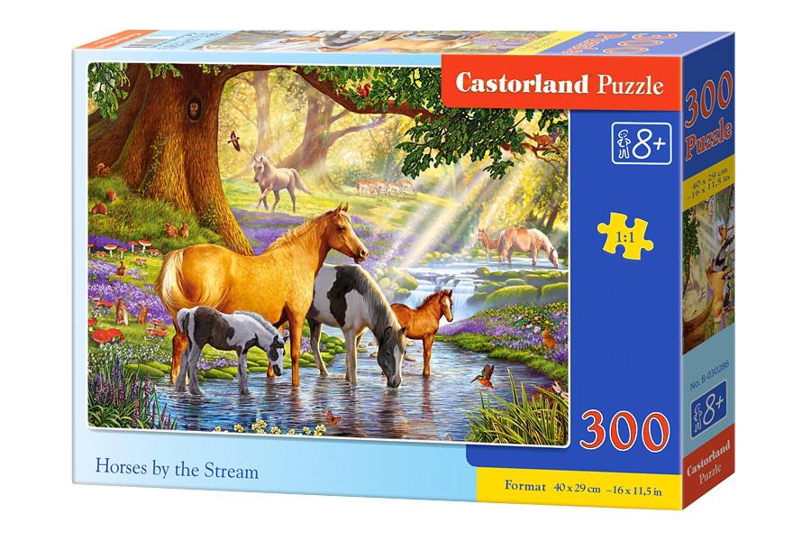 """Пазлы 300 """"Лошади у реки"""""""