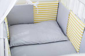"""Бортики в кроватку """"Желтый кит"""" (Лили), фото 2"""