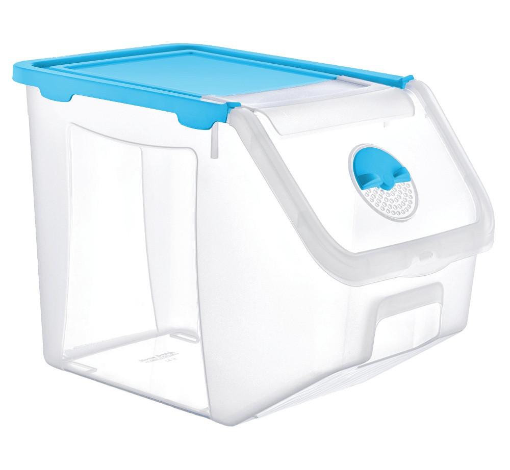 Контейнер 14 л для зберігання харчових продуктів блакитний