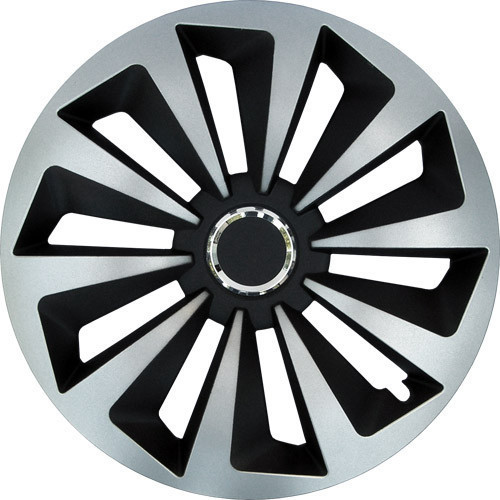 Колпаки на колеса  Р13,  R13  FOX RING MIX черно-серые с кольцом