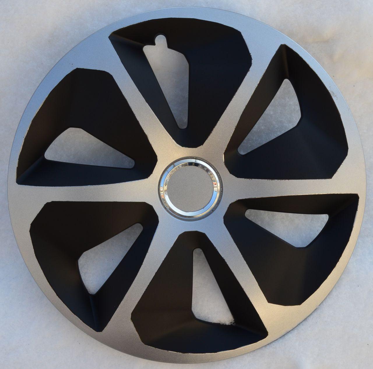 Колпаки на колеса  Р13,  R13 ROKO RING MIX черно-серые с кольцом