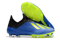 Футбольные бутсы adidas X 18.1 FG Football Blue/Solar Yellow/Core Black, фото 1