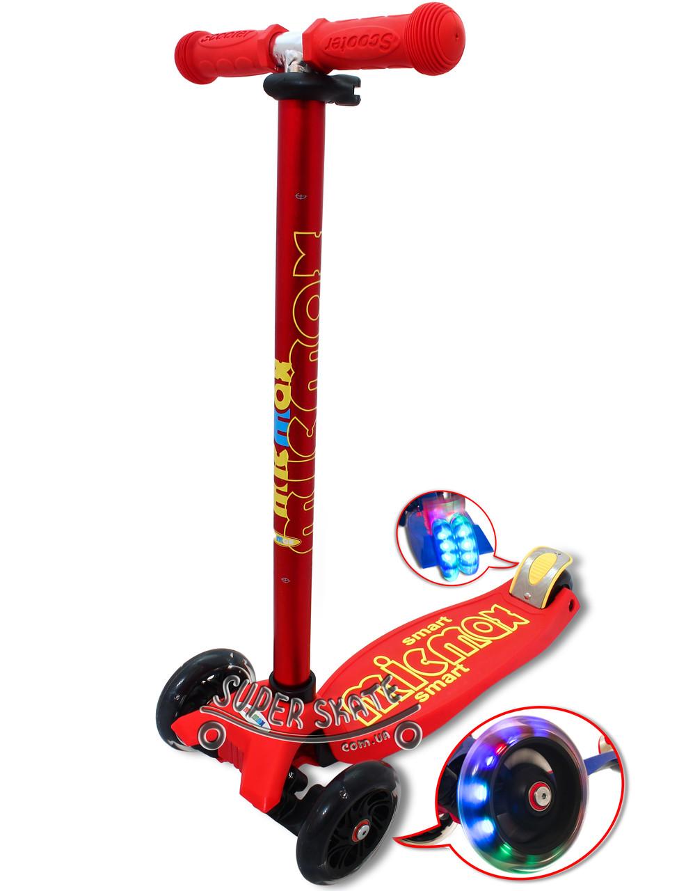 Трехколесный самокат для детей Micmax - DELUXE - Красный