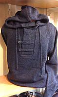 Джемпер вязанный мужской WOOLLENART с капюшоном